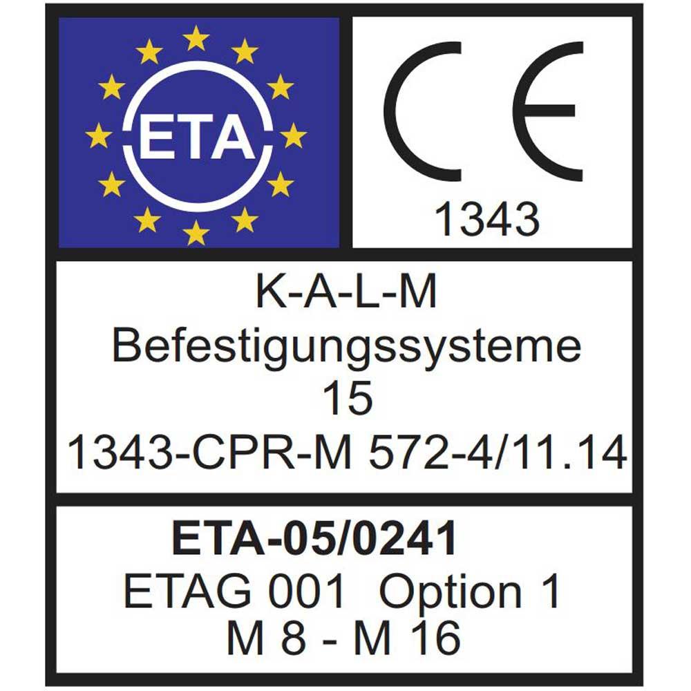 Schwerlastd/übel Eisenwaren2000 - ETA-Zulassung Edelstahl A4 V4A rostfrei M10 x 105//25 mm Bolzenanker 5 St/ück