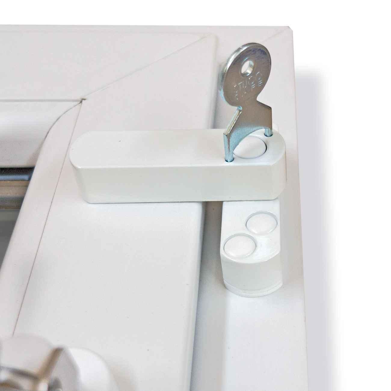 Fenstersicherung Bever Stuco-Safe 20SW weiß 1-flügelig – Bild 5