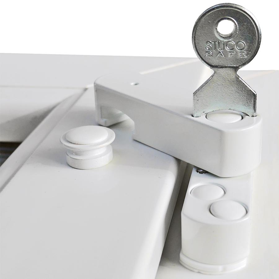 Bever Stuco Safe 22S, geprüfte Fenstersicherung mit Pilzkopf weiß, braun oder silber – Bild 1