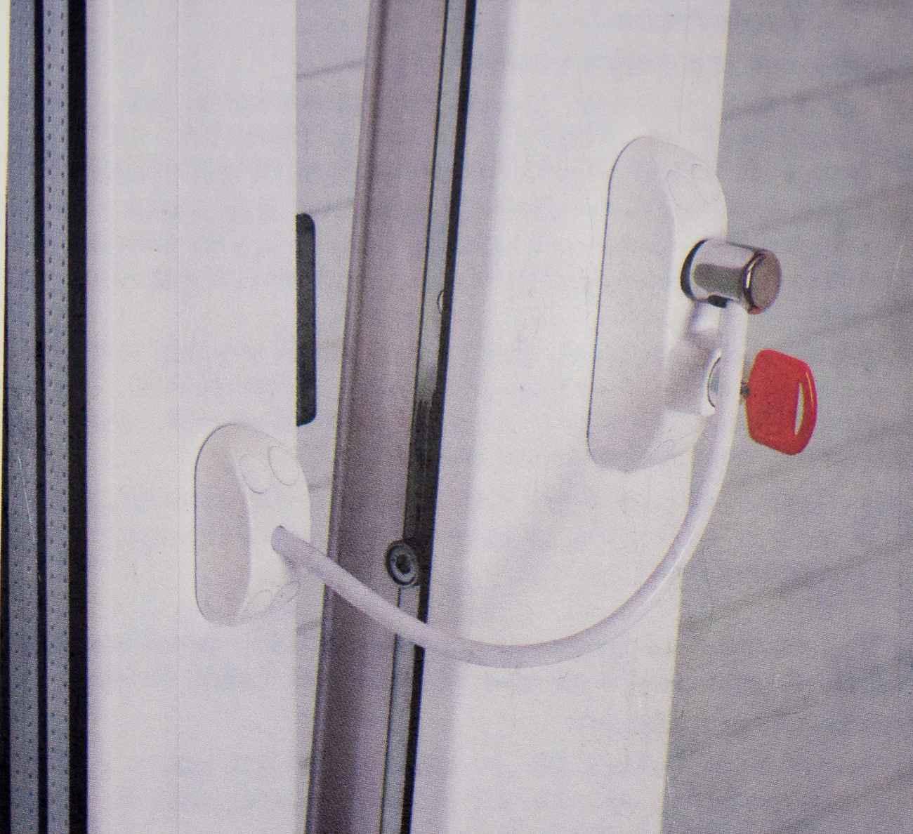 Fenstersicherung Türsicherung BSL Cable Prime weiß – Bild 2