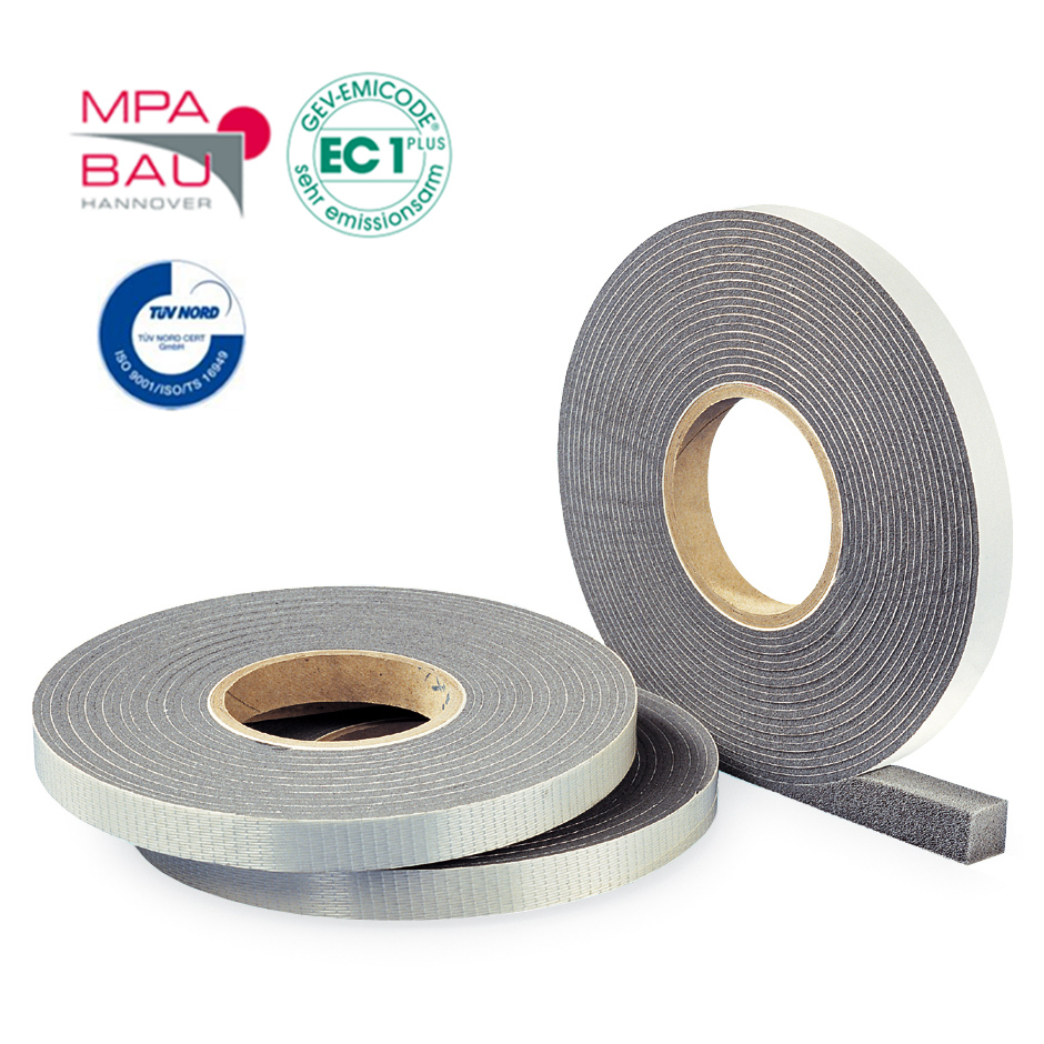Hannoband ® - HBD - Kompriband Fugendichtband Quellband Moosgummi - grau