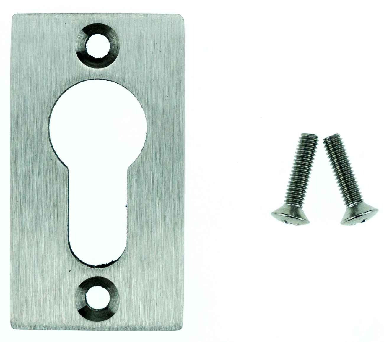 Profilzylinder-Rosette Eckig Edelstahl Bohrabstand 45mm – Bild 1