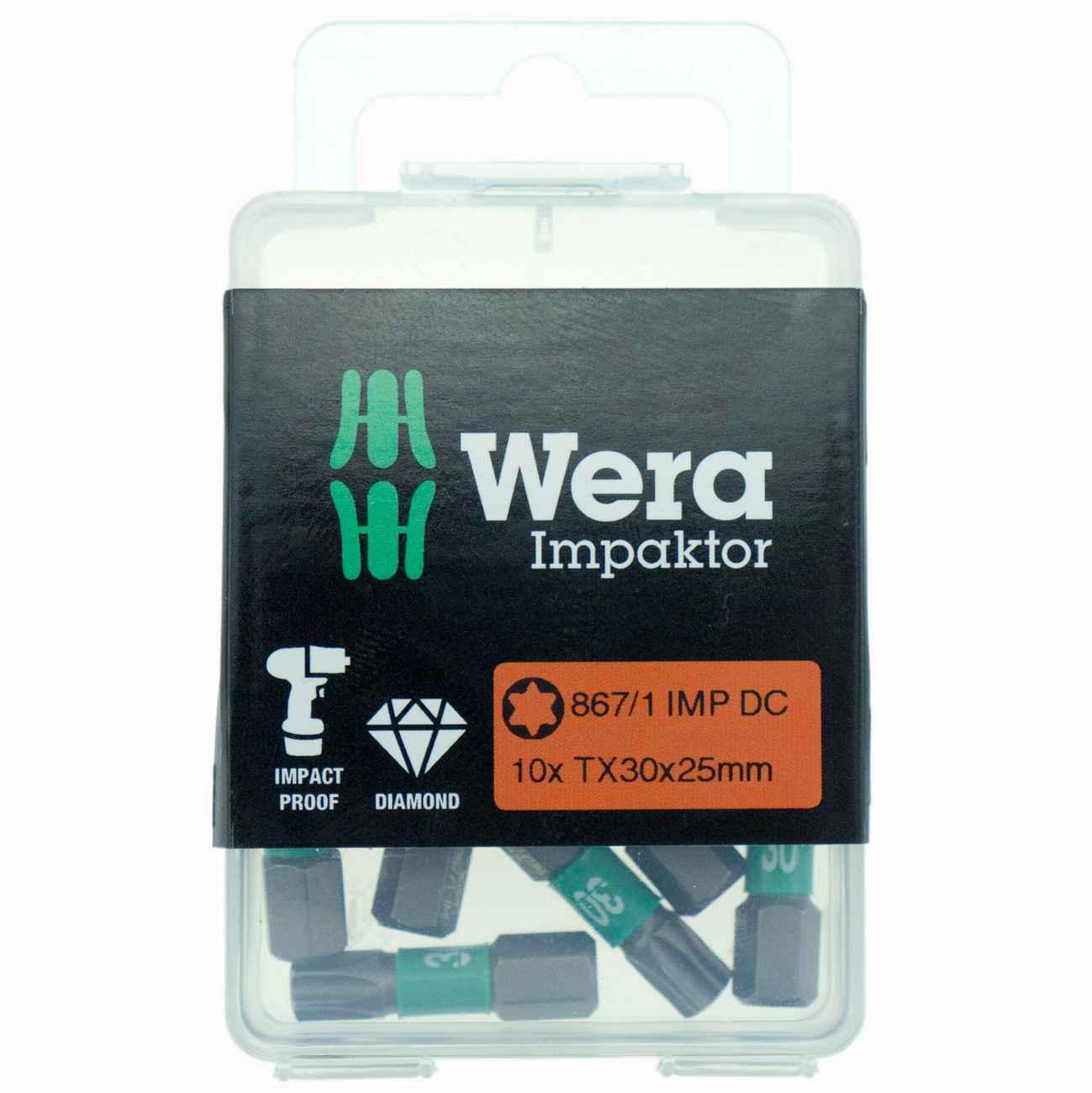10 x Wera Impaktor Bit TX30 x 25mm – Bild 1