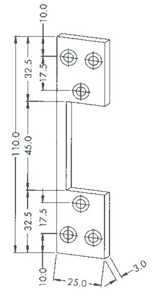 Schließblech 24 x 110 mm für Peso 300 Serie – Bild 3