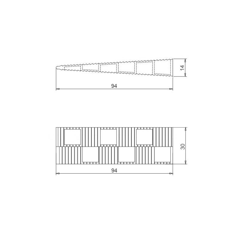Montagekeile S Kunststoff Keile Fensterkeile, 95x30x14 mm – Bild 3