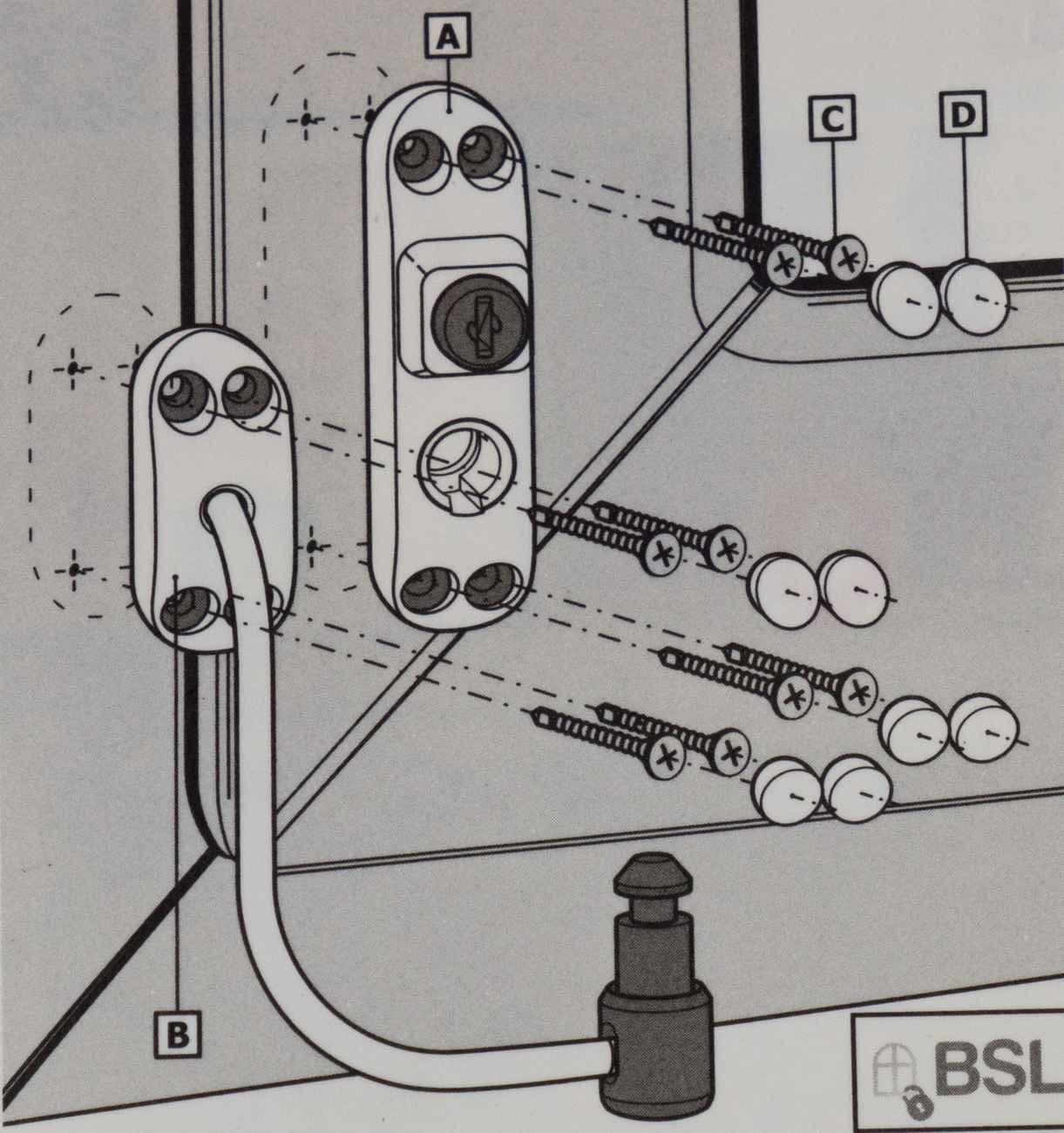 Fenstersicherung Türsicherung BSL Cable Prime braun – Bild 3
