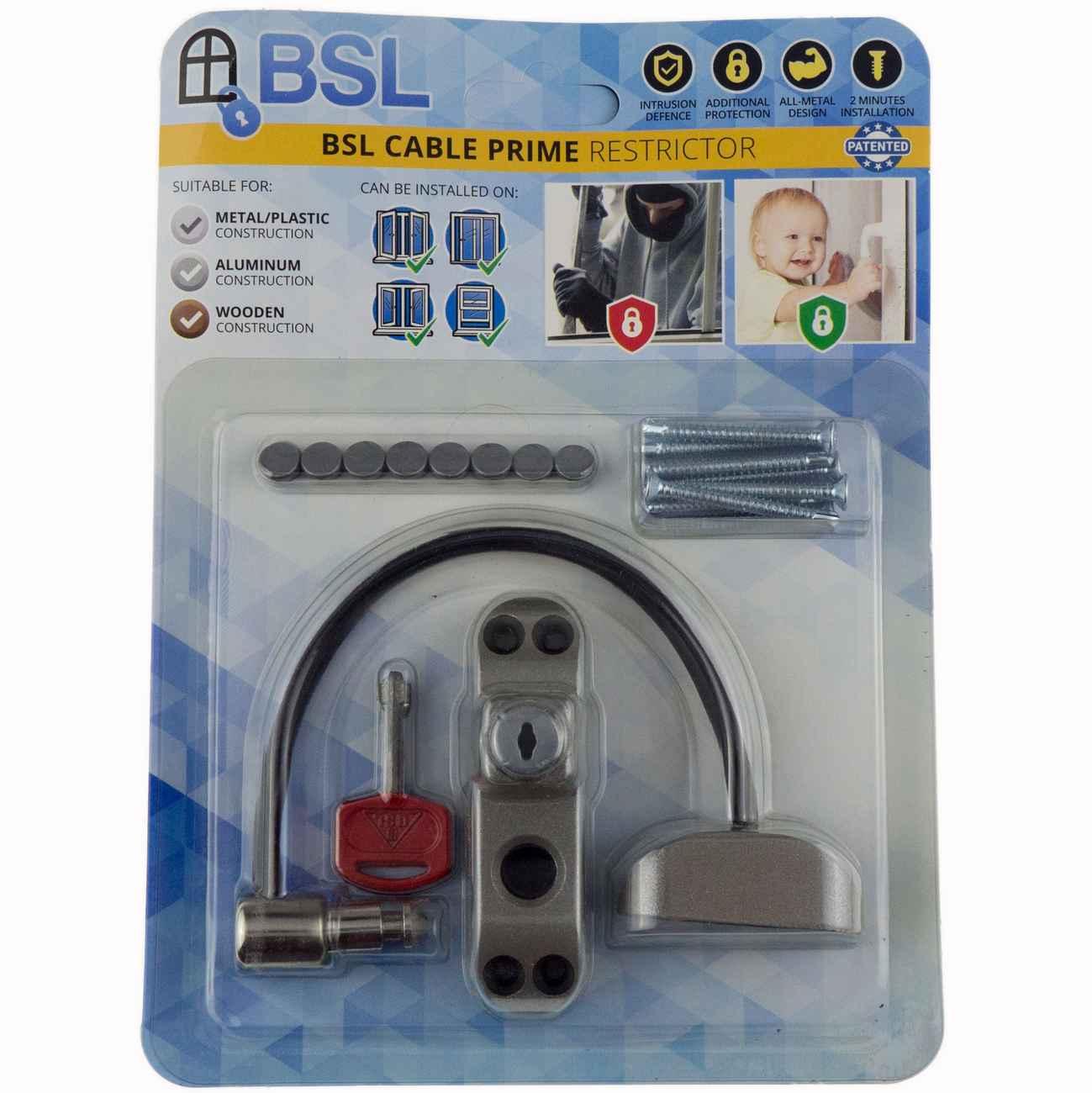 Fenstersicherung Türsicherung BSL Cable Prime silber – Bild 2
