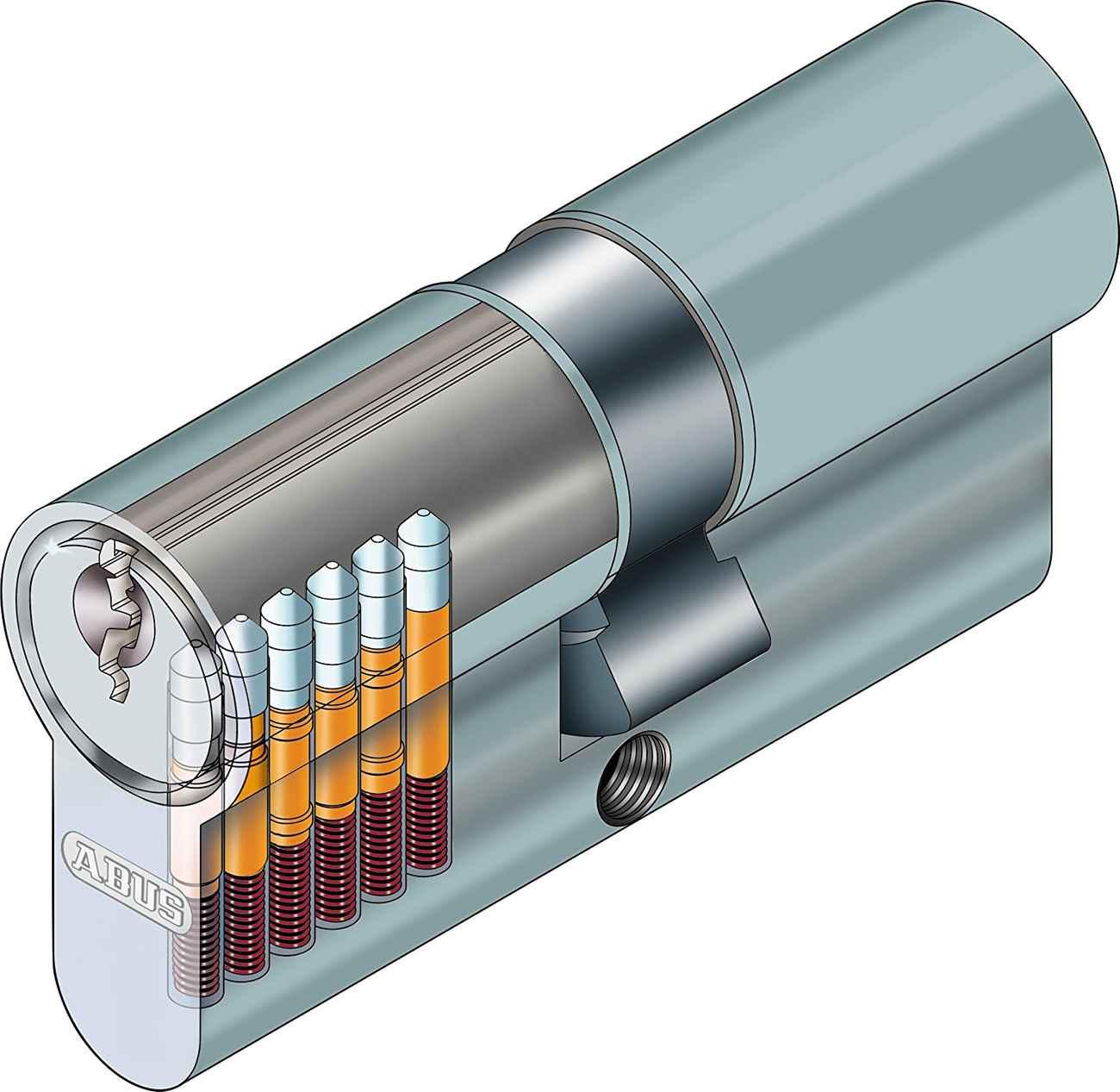 ABUS Profilzylinder E30NP Länge 40/40 Türzylinder mit Profilschlüssel - Doppelzylinder – Bild 3