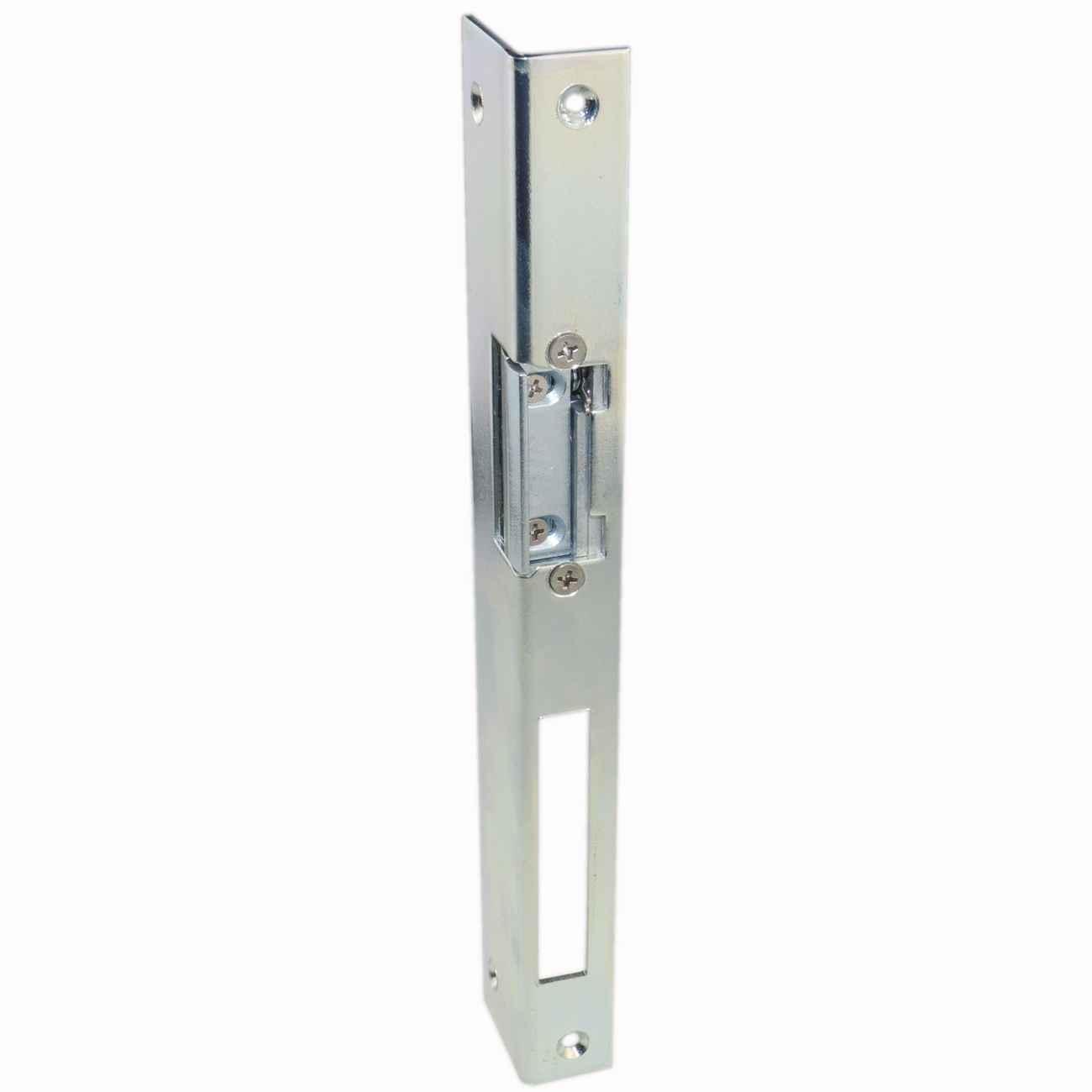 Elektrischer Türöffner Peso 351 AR mit Winkelblech Rechts, Entriegelungshebel, 6 - 12 Volt – Bild 1