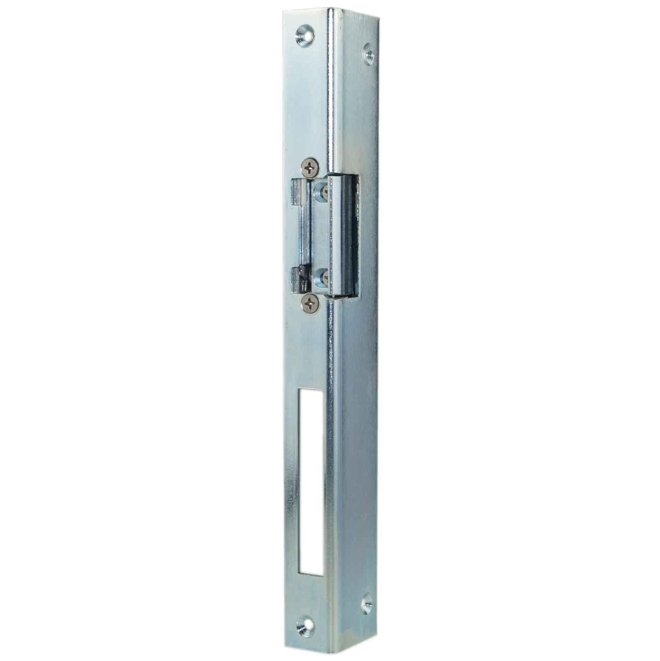 Elektrischer Türöffner Peso 351 AL mit Winkelblech Links, Entriegelungshebel, 6 - 12 Volt