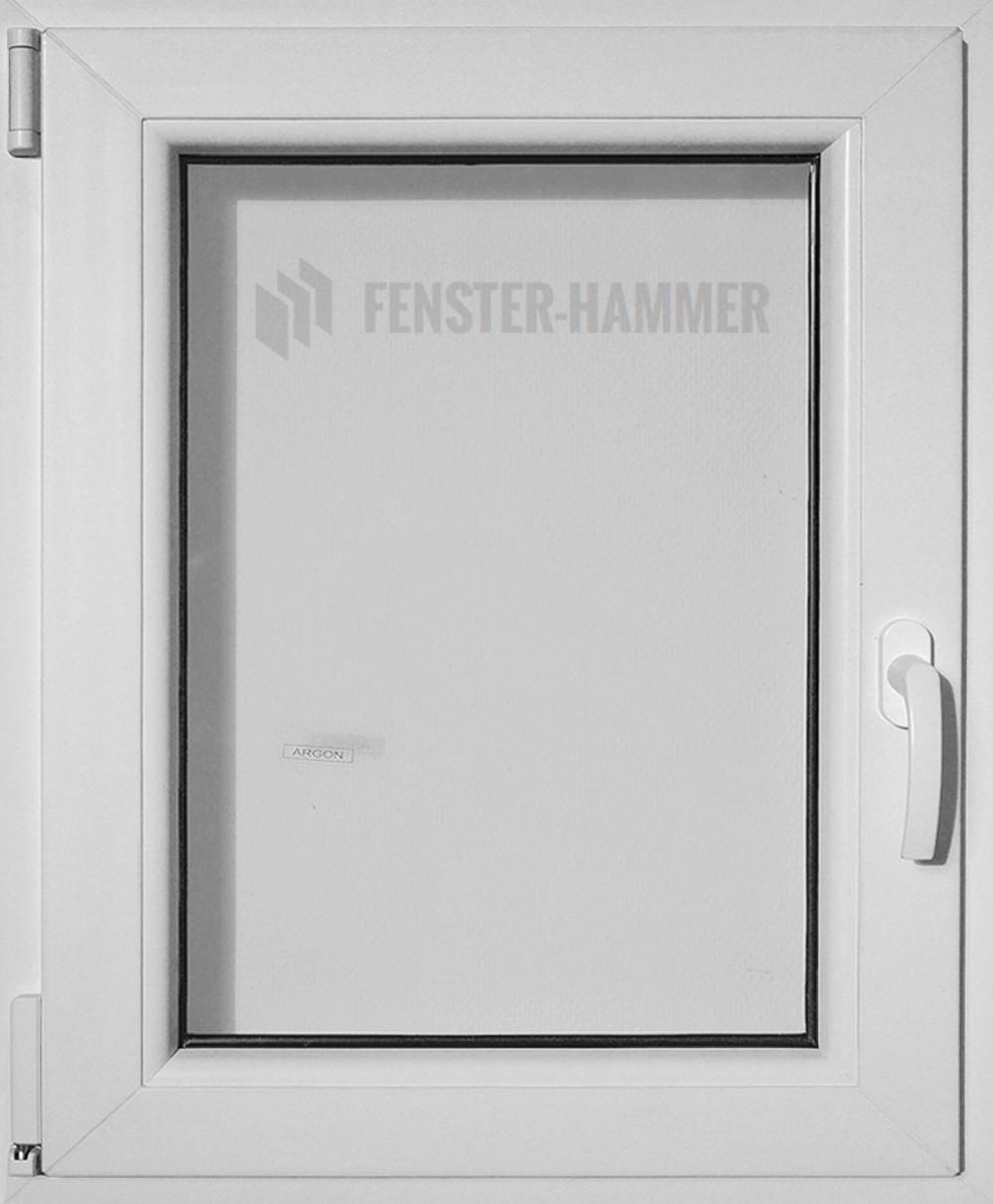 Kunststoff-Fenster 650x650 (BxH) Dreh-Kipp DIN Links Doppelverglasung weiß 70mm Rahmen – Bild 1