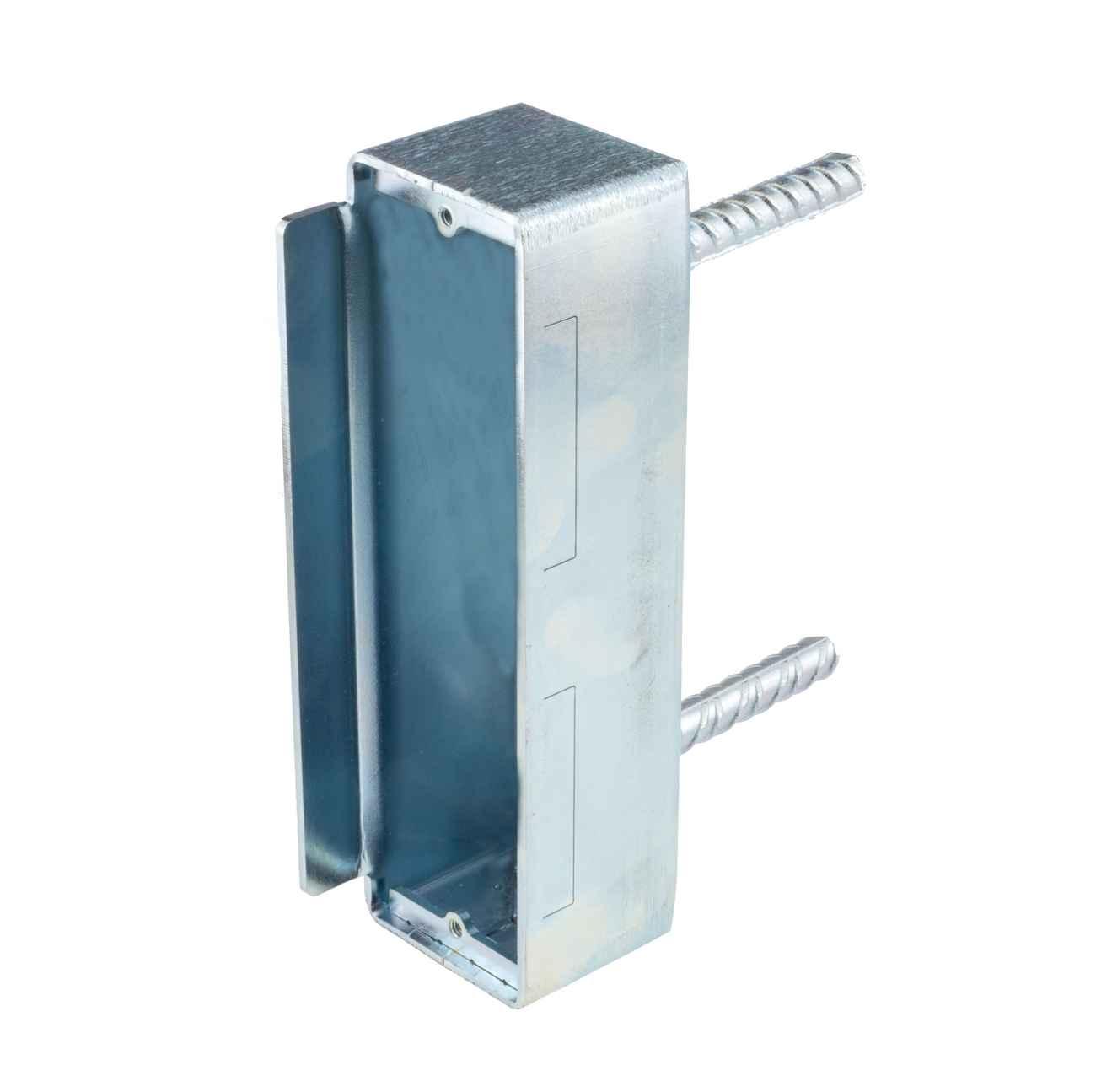 Wandgegenkasten für Metalltore mit 50mm Rohr Gegenschlosskasten – Bild 3