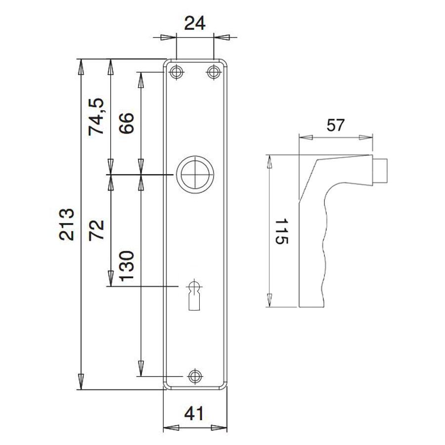 Drückergarnitur BB Alu F1 72/8 Griffe + Türschilder komplett – Bild 3