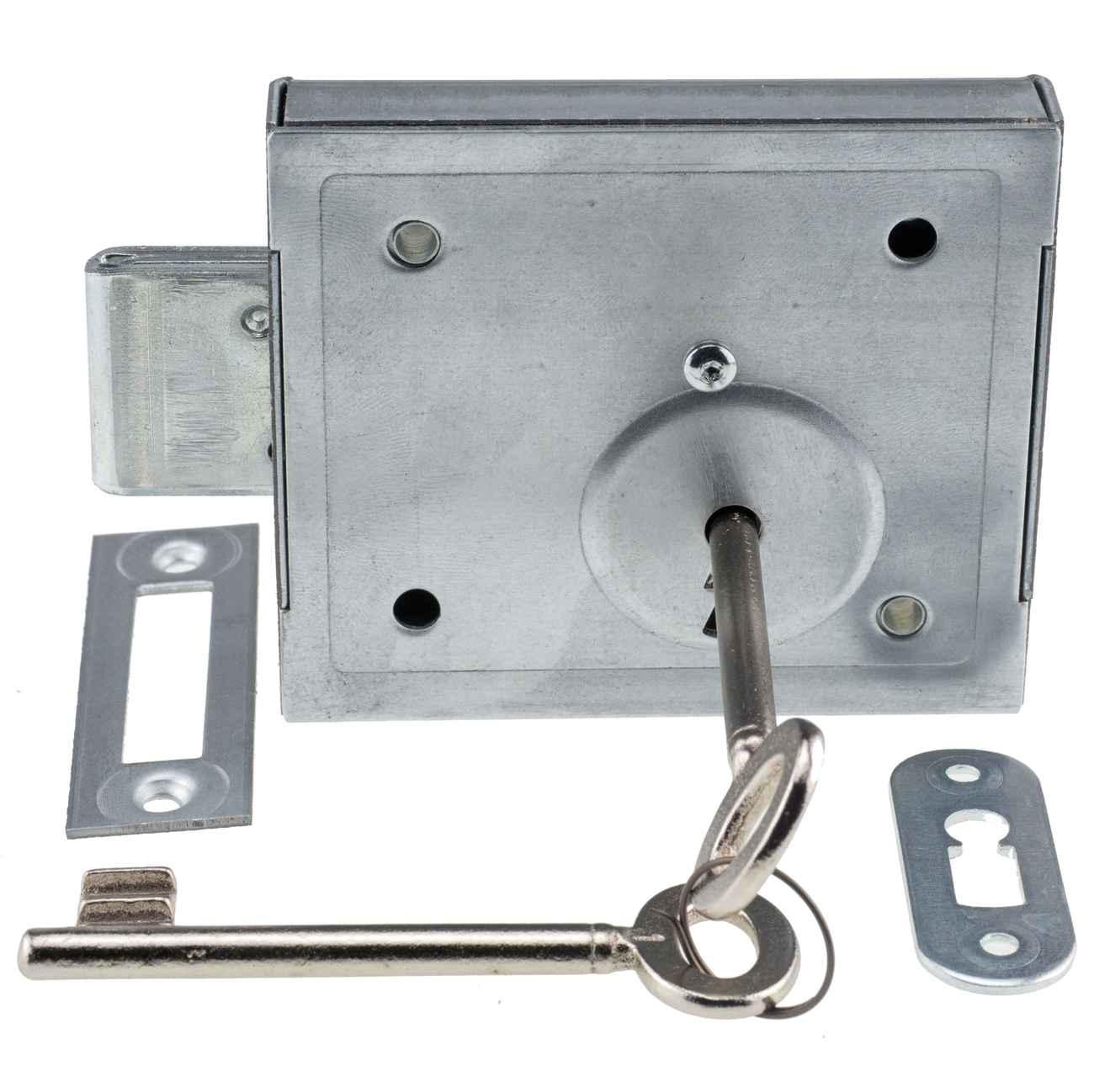 Kellerriegelschloss Aufschraubschloss mit Buntbartschlüssel 150 B Dornmaß 60 – Bild 1