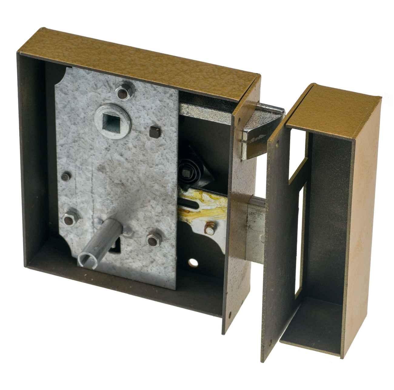 Haustürkastenschloss 100BLE Buntbart schwere Ausführung Links Einwärts Dornmaß 75 mm – Bild 2