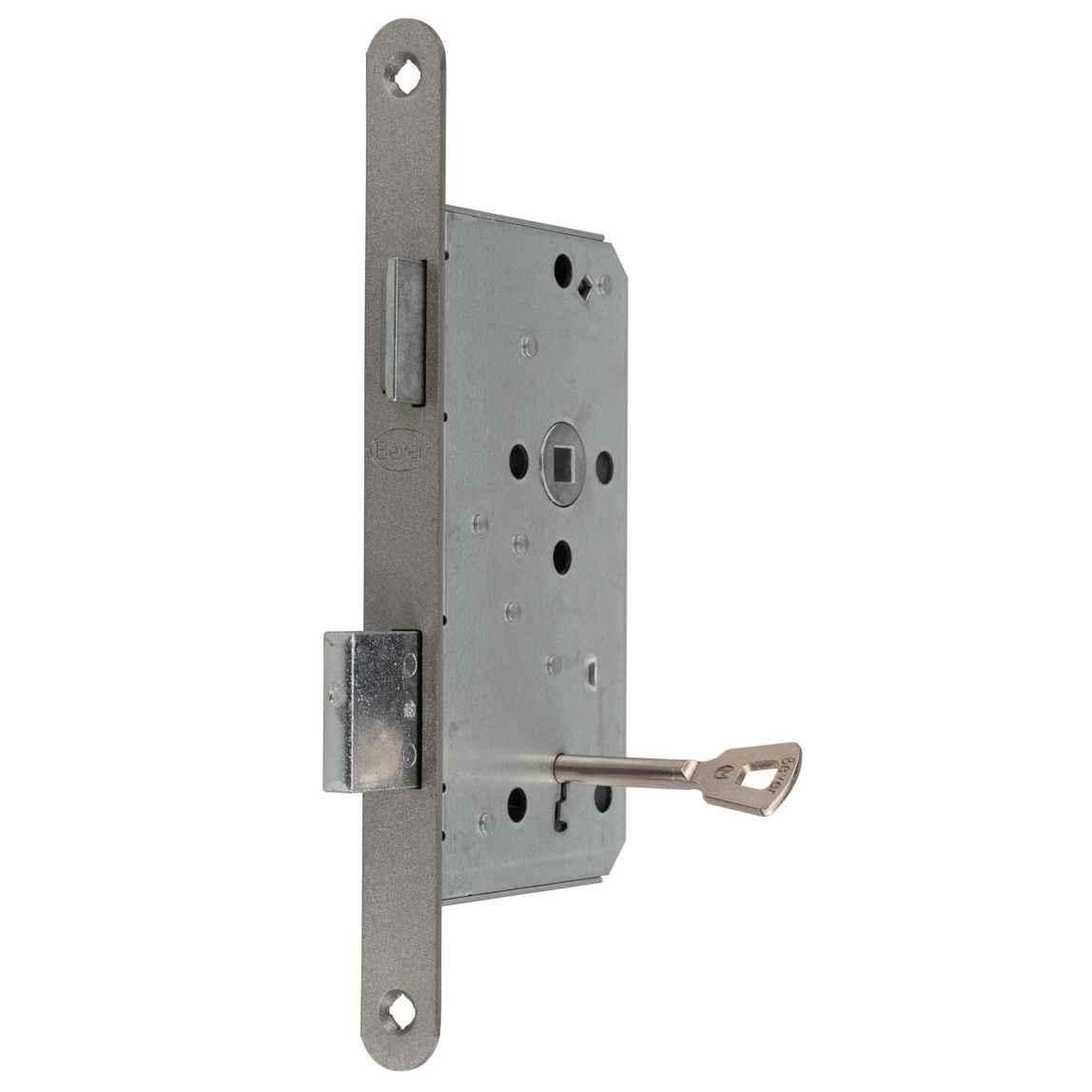 Zimmertür-Einsteckschloss PZ//W 55//72//8 DIN Rechts mit 20mm Edelstahl-Stulp rund