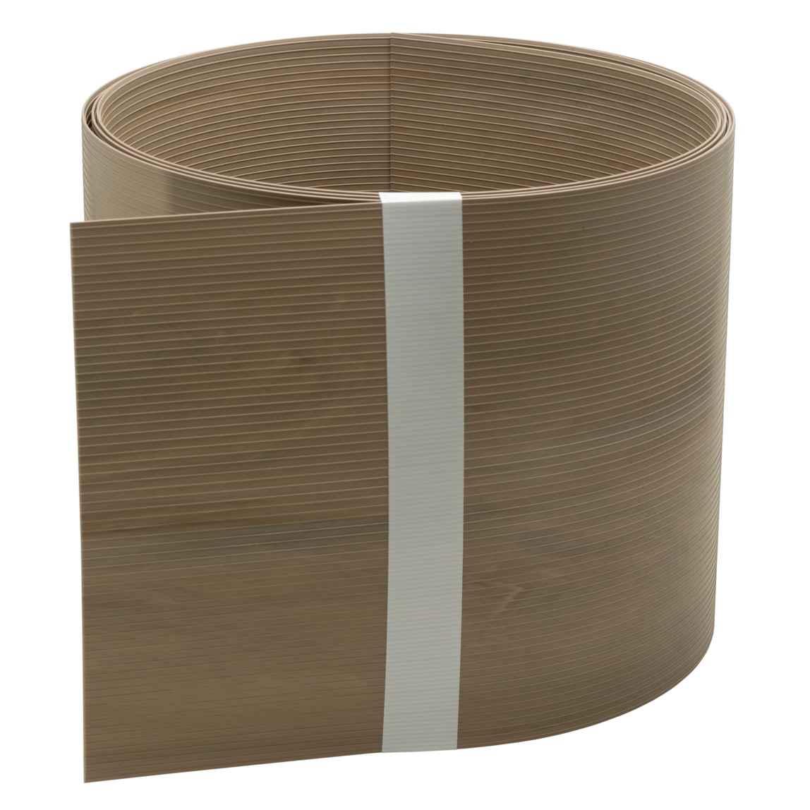 Zaun Sichtschutzstreifen Aus Hart Pvc Holzstruktur Caramel Oak